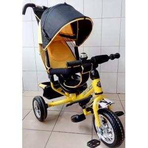 Трехколесный велосипед Best Trike с колесами ПВХ желтый