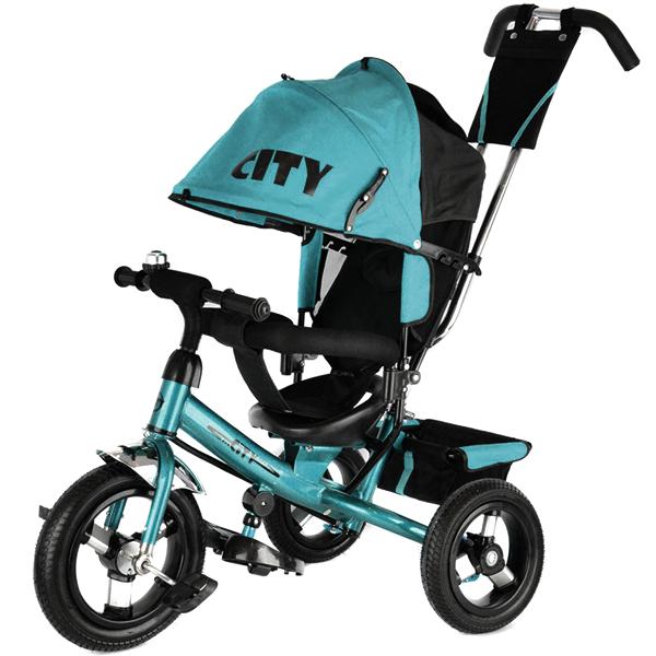 Трехколесный велосипед   City Trike с надувными колесами 10 и 12
