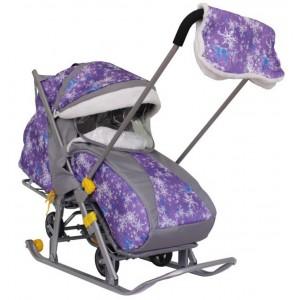 Санки-коляска Галактика Детям 1-1 с бампером
